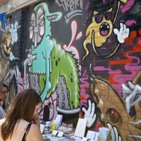 thumbs artist market blender10   Snapshots   Blender Lane Artists Market   Melbourne   studios street art genres stickers genres stencil art genres sculpture genres photography genres paper art painting genres mixed media genres magazines jewellery genres illustration genres graffiti genres galleries urban art fashion comics genres artist news events urban art