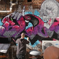 thumbs img 0214   Snapshots   Kiss FM Paint up with SDM & ADN   street art genres paintups urban art painting genres melbourne live art urban art inurban images media graffiti genres events urban art