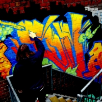 thumbs img 0228   Snapshots   Kiss FM Paint up with SDM & ADN   street art genres paintups urban art painting genres melbourne live art urban art inurban images media graffiti genres events urban art