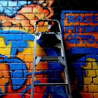 thumbs img 0253   Snapshots   Kiss FM Paint up with SDM & ADN   street art genres paintups urban art painting genres melbourne live art urban art inurban images media graffiti genres events urban art