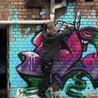 thumbs img 0269   Snapshots   Kiss FM Paint up with SDM & ADN   street art genres paintups urban art painting genres melbourne live art urban art inurban images media graffiti genres events urban art