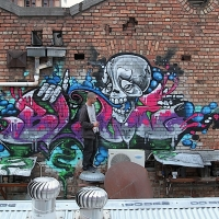thumbs img 0288   Snapshots   Kiss FM Paint up with SDM & ADN   street art genres paintups urban art painting genres melbourne live art urban art inurban images media graffiti genres events urban art