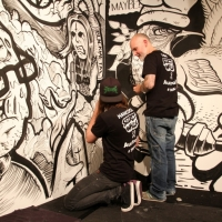 Snapshots   Secret Walls Melbourne Semi Final #1   Hancock vs Steve Cross   tattoos genres street art genres art event photos painting genres melbourne live art urban art inurban illustration genres graphic design genres graffiti genres events urban art