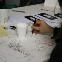 Snapshots   Trails Drawing Night @ Blender Studios.   studios street art genres art event photos melbourne live art urban art illustration genres comics genres events urban art
