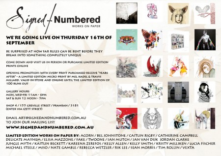 signedandnumbered home e1283959725567   Gallery Opening   Signed & Numbered   Melbourne   melbourne exhibitions events