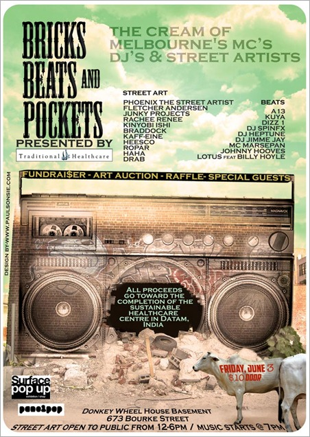 Bricks Beats Pockets 1 thumb Event – Bricks, Beats ands Pockets Fundraiser VIC in melbourne events