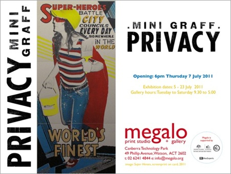 mini graff thumb   Exhibition – Minigraff – Privacy   Canberra   prints genres exhibitions canberra art in situ