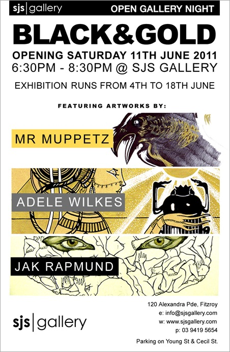 sjsflier forweb thumb Exhibition – Black & Gold – SJS Gallery VIC in melbourne exhibitions