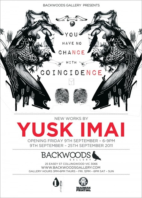yuskpromoprint2600x8371 thumb Exhibition Yusk Imai Melbourne in street art genres sculpture genres melbourne installations genres illustration genres exhibitions body painting