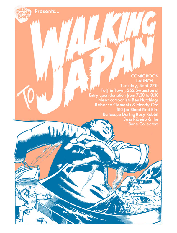 WalkingToJapanLaunch Comic Book Launch Walking to Japan Melbourne in melbourne launch parties illustration genres books