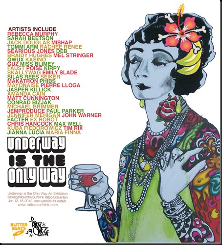 UNDERWAY FLYER thumb Exhibition Underway Is The Only Way Gold Coast in tattoos genres street art genres stencil art genres prints genres painting genres illustration genres graphic design genres gold coast art in situ exhibitions