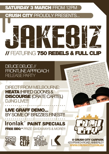 JAKEBIZ thumb   Live Graff & Release Party   Jake Biz   Brisbane   live art urban art graffiti genres exhibitions brisbane events