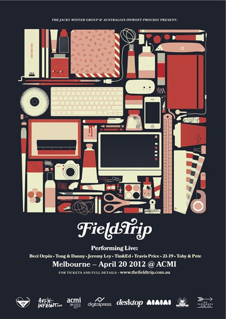 FieldTrip PressRelease thumb   Event & Live Art   Field Trip   Melbourne   melbourne illustration genres graphic design genres fine ary digital genres events