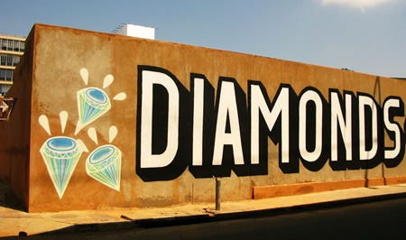 1 Diamonds thumb   International   ABOVE   Blood Diamonds   street art genres art event photos international artist news