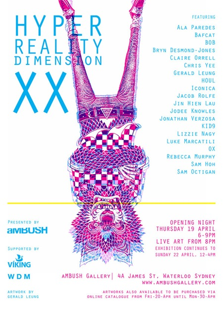 hypersmall thumb   Exhibition   Hyper Reality Dimension XX   aMBUSH Gallery   Sydney   video art sydney mixed media genres live art urban art illustration genres galleries urban art fine ary exhibitions digital genres events