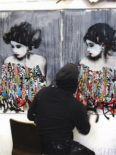 HUSH Motion12.125947 thumb   Interview   Hush   street art genres painting genres mixed media genres melbourne international graffiti genres artist interviews