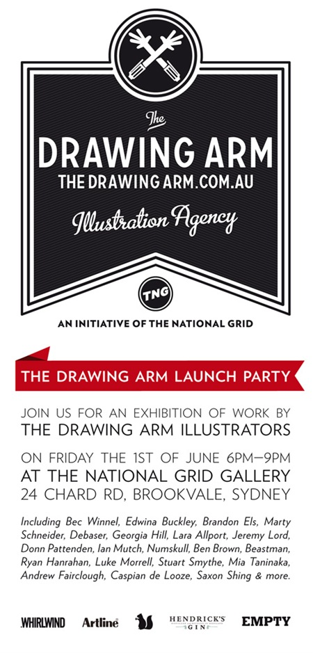 fbflyerv21 thumb Exhibition The Drawing Arm Launch Party The National Grid Sydney in sydney launch parties illustration genres exhibitions
