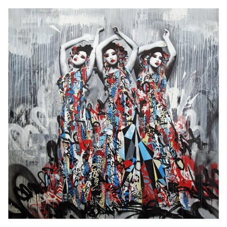 print2 hush thumb   Interview   Hush   street art genres painting genres mixed media genres melbourne international graffiti genres artist interviews