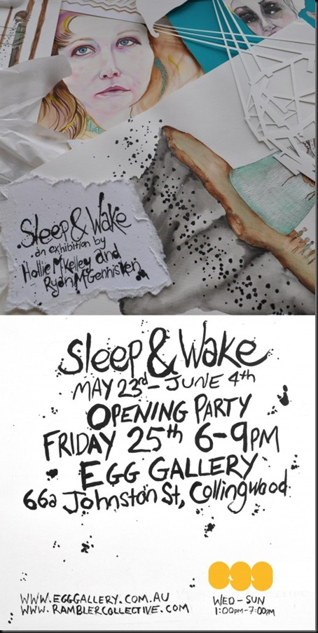 sleep and wake hollie m kelley ryan mcgennisken1 thumb Exhibition Sleep & Wake Hollie M Kelley & Ryan McGennisken Egg Gallery Collingwood in mixed media genres melbourne installations genres illustration genres galleries urban art fine ary exhibitions events