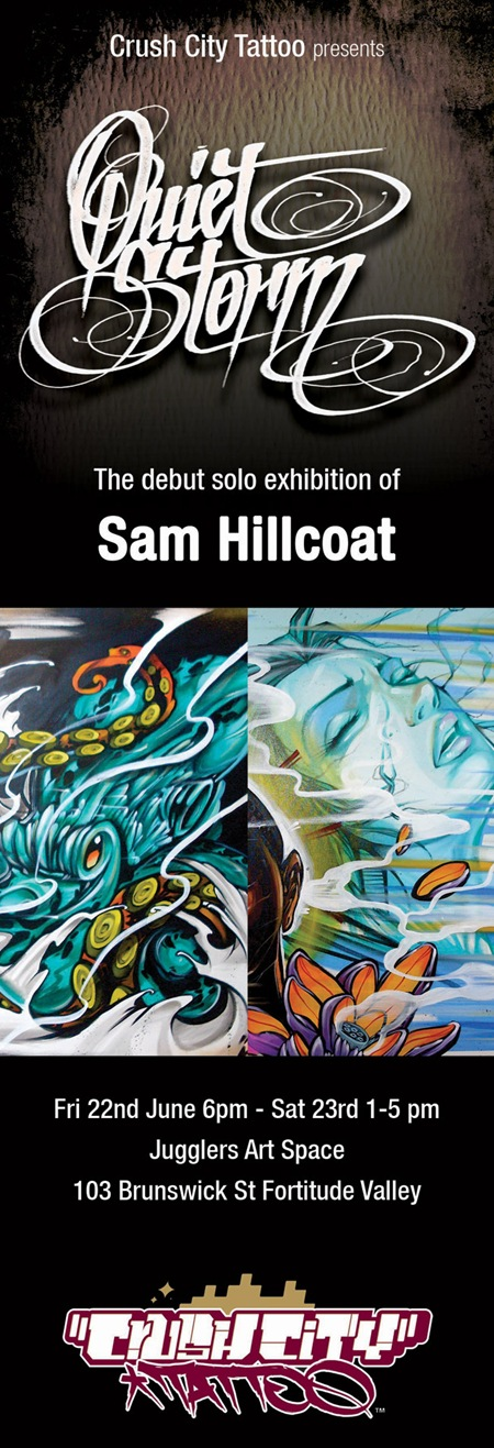 Sam internet1WEB thumb   Exhibition   Sam Hillcoat   The Quiet Storm   Brisbane   tattoos genres street art genres painting genres illustration genres graffiti genres fine ary exhibitions brisbane