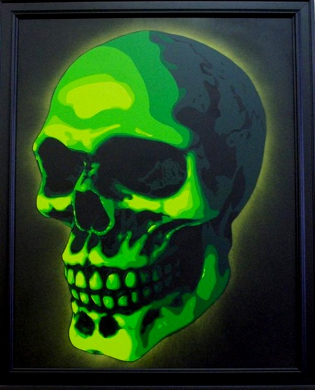 SkullLarge thumb Interview Fletch Cuts in street art genres stencil art genres artist interviews adelaide
