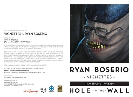 webinviteaw thumb Exhibition Ryan Boserio Vignettes Perth in street art genres perth painting genres mixed media genres illustration genres graffiti genres exhibitions digital genres