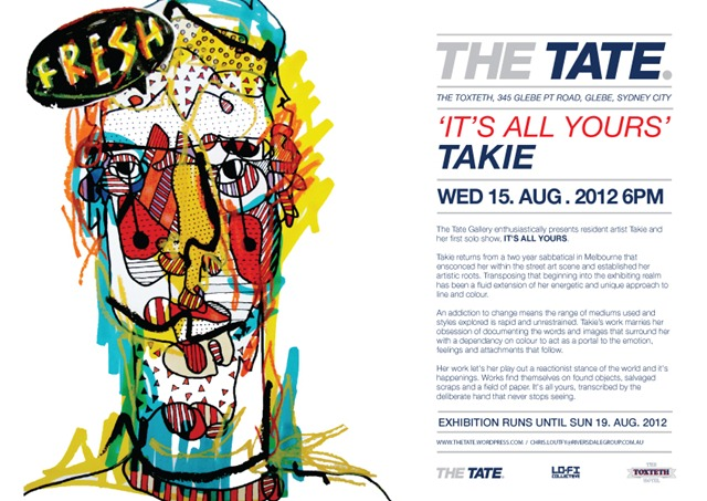 photo thumb   Exhibition   Takie   The Tate   Sydney   sydney street art genres pasteups genres painting genres found objects genres exhibitions