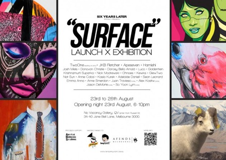 6YL FLYER hires 630x445 thumb Event & Exhibition Six Years Later Launch Surface Melbourne in typography genres street art genres prints genres painting genres mixed media genres magazines launch parties illustration genres graphic design genres fine ary exhibitions