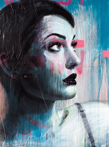 Rone So Far Away 48  X 36 48  X 36 2012 thumb   International & Preview   Rone   Darkest Before Dawn   White Walls   San Francisco   street art genres stencil art genres prints genres mixed media genres international graphic design genres exhibitions