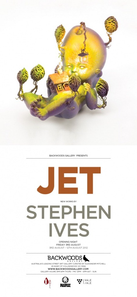 stef ives promo print thumb Exhibition Stephen Ives Jet Melbourne in toys genres sculpture genres mixed media genres installations genres exhibitions