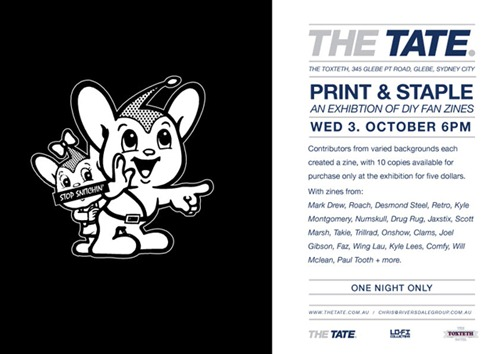 printandstaple 640 thumb Exhibition Print & Staple The Tate Sydney in zines genres sydney magazines illustration genres exhibitions