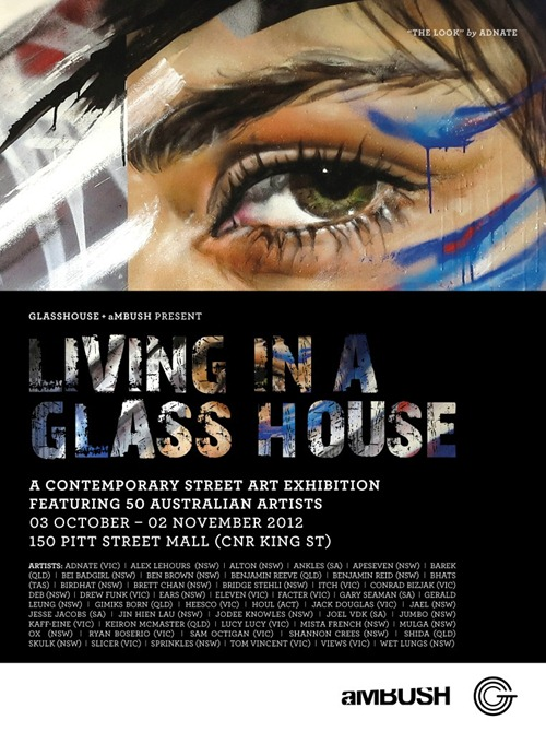GLA583 3 Day Festival Ambush v2 Custom thumb Exhibition Living In A Glass House Sydney in street art genres painting genres live art urban art graffiti genres exhibitions