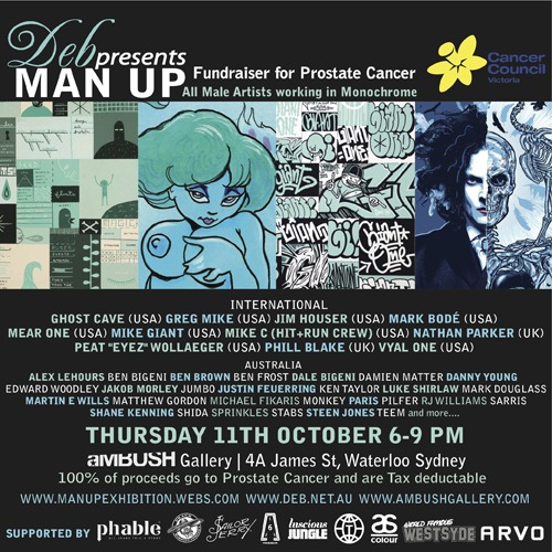 final in CAPSweb thumb Exhibition Man Up aMBUSH Gallery Sydney in sydney street art genres magazines illustration genres exhibitions charity urban art