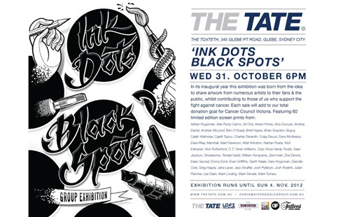 inkdots sydney2 1 thumb   Exhibition   Ink Dots Black Spots   Sydney   tattoos genres prints genres melbourne illustration genres graphic design genres graffiti genres exhibitions