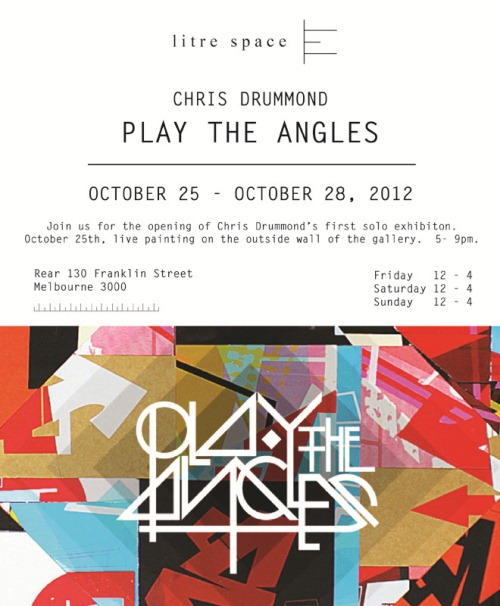 print thumb   Exhibition   Chris Drummond   Play The Angles   Melbourne   prints genres melbourne graffiti genres exhibitions