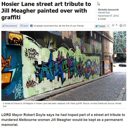 ScreenHunter 01 Nov. 15 23.20 thumb Feature Reclaim The Night, The Jill Meagher Tribute & Hosier Lane in street art genres press mill urban art paintups urban art melbourne graffiti genres editorial charity urban art artist news artist interviews artist feature events