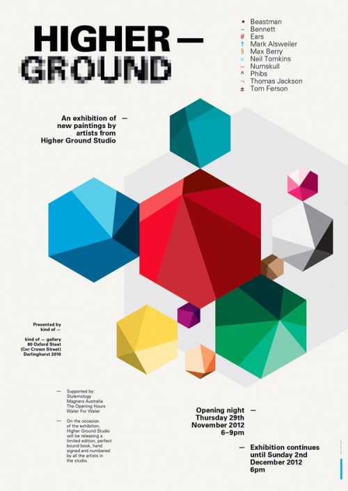 newsletter higherground e1353979455536 Exhibition Higher Ground Kind Of Gallery Sydney in sydney studios street art genres painting genres mixed media genres illustration genres exhibitions