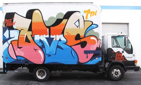 dm truck2012 11 thumb Interview Dabs Myla All Good Things in street art genres painting genres melbourne international installations genres illustration genres graphic design genres artist interviews