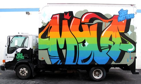 dm truck2012 2 thumb Interview Dabs Myla All Good Things in street art genres painting genres melbourne international installations genres illustration genres graphic design genres artist interviews