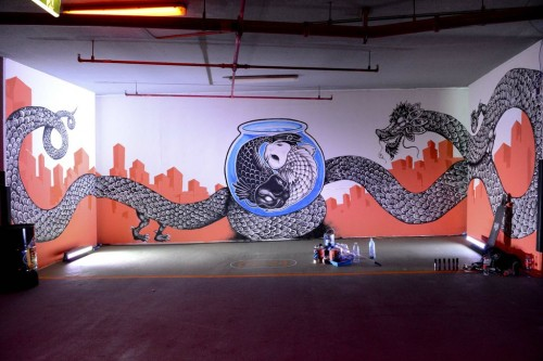 n ford and saidi 500x333   Event Recap   Tiger Translate   Dubai    street art genres paintups urban art painting genres live art urban art international exhibitions events urban art