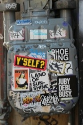 20130418 195601 Sojourn San Francisco Street Art Stickers in street art genres stickers genres art event photos editorial
