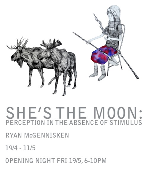 web front page thumb   Exhibition   Ryan McGennisken   Shes The Moon   Melbourne   melbourne illustration genres exhibitions