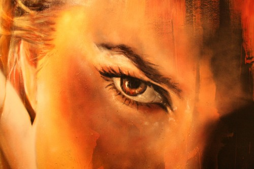 Adnate Painting live at Metro Gallery 2 500x333   Snapshots   Live painting at Metro gallery by Adnate, DVATE and Shida     street art genres melbourne live art urban art graffiti genres exhibitions