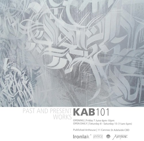 kab thumb Exhibition & Video KAB101 Published Arthouse Adelaide in painting genres illustration genres graffiti genres adelaide