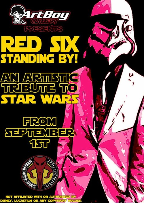 red six standing by thumb Exhibition Red Six Standing By Star Wars Tribute Exhibition Melbourne in painting genres mixed media genres melbourne illustration genres exhibitions