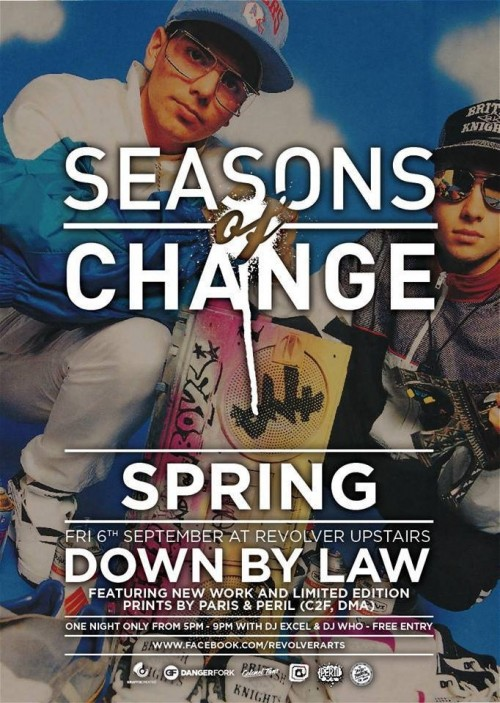seasons of change spring delete later 500x703 Exhibition Seasons of Change Spring Paris and Peril Down by Law Revolver in melbourne graffiti genres exhibitions