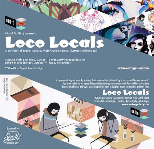 1385509 10151623088041965 1080373692 n1 500x485 Exhibition Loco Locals Outré Gallery Perth in tattoos genres street art genres perth painting genres mixed media genres illustration genres exhibitions