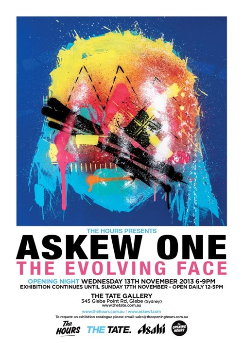 askew the evolving face thumb Exhibition Askew The Evolving Face The Tate Sydney in sydney street art genres painting genres new zealand art in situ graffiti genres exhibitions