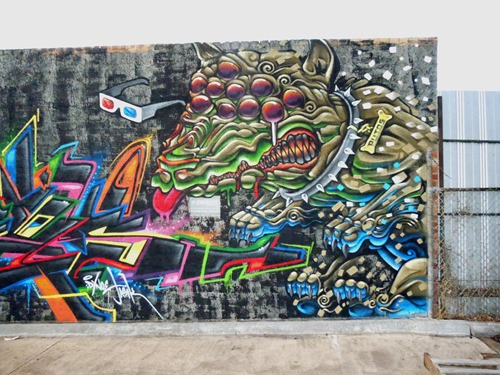 10eyed dawg thumb Interview Putos in street art genres melbourne illustration genres graffiti genres artist interviews