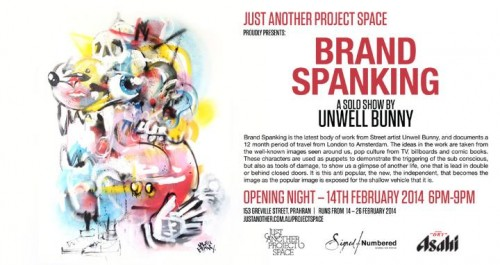 1545225 743277585736413 2120062982 n 500x265 Exhibition Unwell Bunny Brand Spanking Just Another Project Space Prahran. in street art genres melbourne graffiti genres exhibitions
